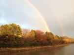Rainbow over Durham in Autumn