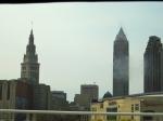 Cleveland, Ohio as we skirt Lake Erie