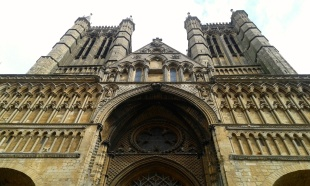 The magnificent entrance to the Cathedral, and on the surviving romanesque sections.
