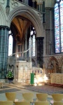 The Angel Quire and the place of the shrine of St Hugh.
