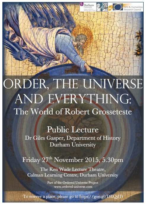 Order, Universe and Everything Public Lecture Poster