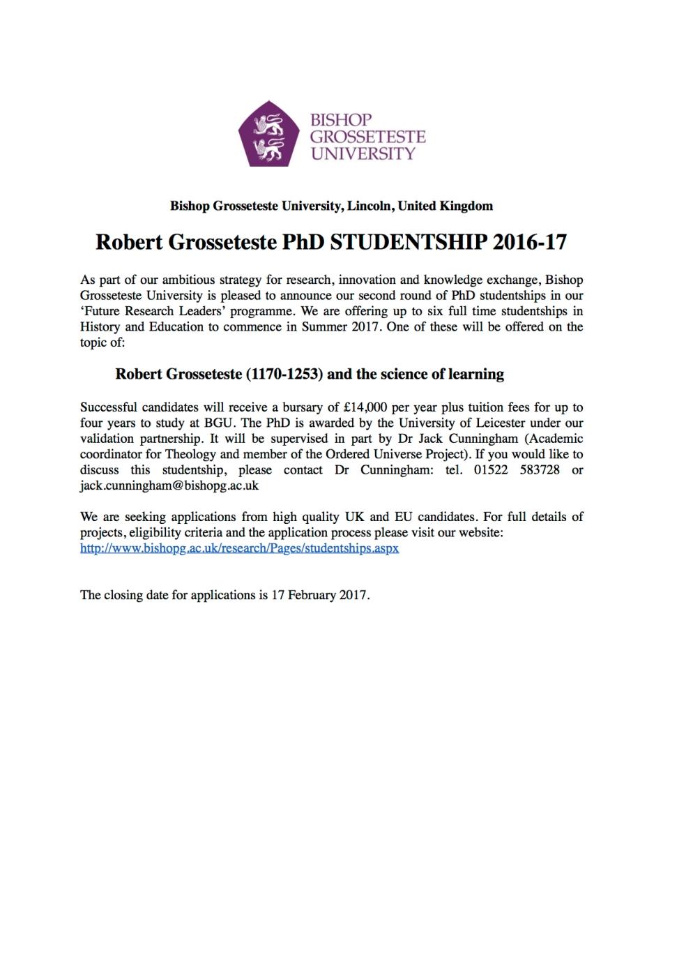 advert-studentships-2016-17